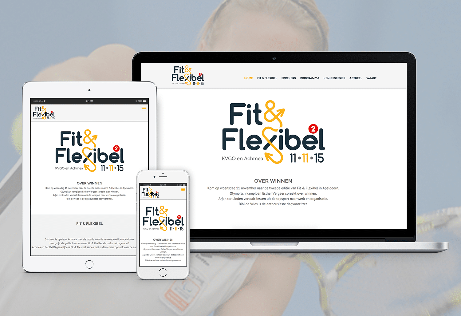 WordPress website gemaakt voor fit en flexibel