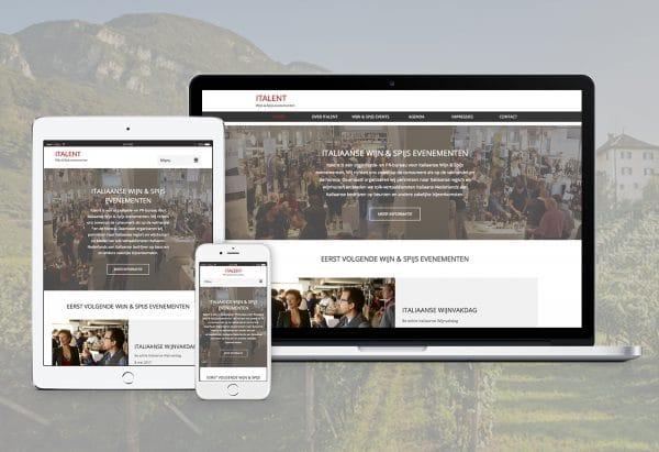 sfeervolle website laten maken voor evenementen